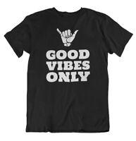 Good Vibes Only T Shirt Yoga Motivational Positive Vibes Inspirational Gym Tee