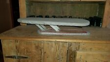 Vintage Portable Folding Table Top 2 Sided Sleeve Ironing Board Good Condition