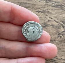 More details for roman. julius caesar. silver denarius. minted 46 b.c.