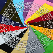 Paisley Bandana Head Wear Hair Band Scarf Neck Wrist Wrap Cow Boy 100% Cotton UK
