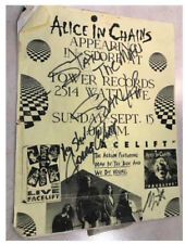 Alice In Chains signed flyer + coa! Mike Starr Jerry Cantrell Sean Kinney A.I.C.