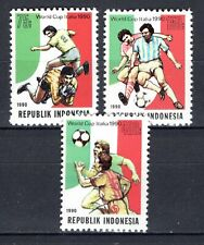 Indonesia - 1990 Soccer championship Italy - Mi. 1353-55 MNH