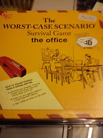 UNIVERSITY GAMES THE WORST-CASE SCENARIO SURVIVAL GAME THE OFFICE GAME COMPLETE