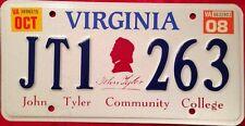 Virginia John Tyler Community College license plate Chester Midlothian Jtcc Va