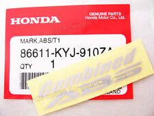 2p GREY 15x60mm HONDA STICKER combined ABS brake EMBLEM LOGO 86611-KYJ-910ZA