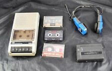 Lot of Vintage Tozai C-693A Cassette Recorder Am Fm Headset & GE 5363A VSP X6G6