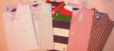 Lot of 5 TOMMY HILFIGER COLORBLOCK L/S  BUTTON FRONT XL Shirts Men T5715
