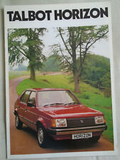 Talbot Horizon brochure Jul 1981