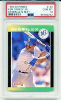 1989 Donruss Baseball's Best KEN GRIFFEY JR. ROOKIE CARD #192 RC Low Pop PSA 10