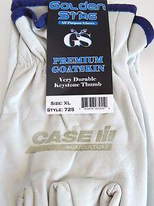 Case IH Golden Stag Premium Goatskin Elastic Wrist Keystone Thumb Gloves