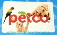 PETCO GIFT CARD DOG CAT PARROT IGUANA HAMSTER COLLECTIBLE NO VALUE  NEW