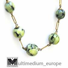 30er Jahre Art Deco wohl Murano oder WMF Halskette grün Glas necklace 🌺🌺🌺🌺🌺