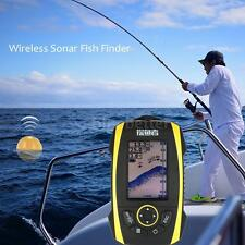 Wireless Sonar Fish Finder Portable Fishfinder Alarm Contour Depth B0I6