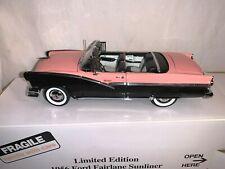 1:24 Danbury Mint 1956 Ford Fairlane Sunliner Pink Black Limited 762/2500