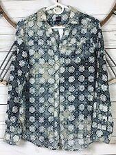 Jag Tunic Button Up Womens Size XS Long Sleeve Rayon Light Weight