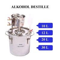 10-30L DIY Destillieranlage Schnapsbrennen Edelstahl Destille Alkohol Öle Wasser