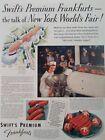Swift Meat Print Ad Original Vtg 1939 Frankfurt NYC World Fair Dole Pineapple US
