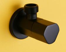"Luxury Brass Black G1/2""Shut Off Valve For Bathroom Toilet Bidet Sprayer Shower"