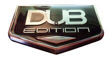 TWO- 3D DUB EDITION Universal Car Badge Emblem 3M Stick On Hood Fender Trunk 300
