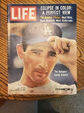 Sandy Koufax August 2, 1963 Life Magazine Los Angeles Dodgers