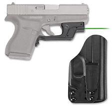 NEW Crimson Trace Laser Sight For Glock 42 43 Green Bladetech Holster LG-443GHBT