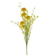 Artificial Wild Cornflower Stem 48cm Yellow