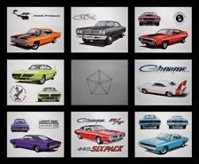 8 ART PRINTS - 1968 1969 1970 1971 - SUPERBIRD ROAD RUNNER GTX PLYMOUTH 426 HEMI