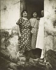 THREE PROSTITUTES RUE ASSELIN PARIS FRANCE 8X10 PHOTO EUGENE ATGET 1924