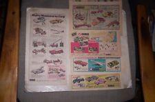 Lot of 6 Corgi Car Sunday Comic Ads 1968-70 BATMOBILE, JAMES BOND ASTON MARTIN