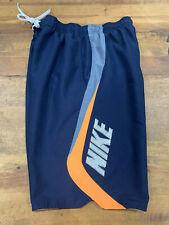 Nike Men's Swim Shorts/Trunks Size Small Blue/Orange Mesh Lining Drawstring