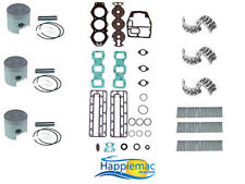 Yamaha 75 85 90 HP 3 Cylinder Powerhead Rebuild Kit Piston Gasket Bearing Enduro
