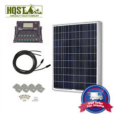 Solar Panel 100 Watt Poly Kit 12V RV Boat 100W Off Grid System W/O Tray Cable