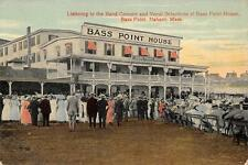 Band Concert & Vocal Selections, Bass Point House, Nahant, MA Postcard ca 1910s