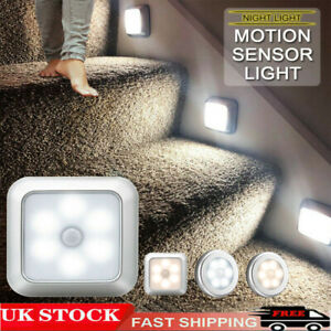 Wireless 6LED PIR Motion Sensor Closet Lights Night Light Cabinet Stair Lamp