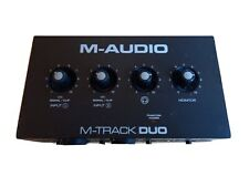 More details for m-audio m-track duo usb audio interface for recording - black