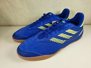 Adidas Copa Nationale Soccer Skate Shoes Blue Yellow EG2272 Mens Size 11.5 US