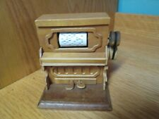 Vintage Wood Music Box by Chinese Craftsmen PLAYER PIANO Plays The Entertainer