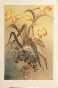 "Kaiko Moti ""Les Tulipes"" original etching Art"
