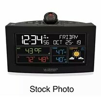 New LA CROSSE TECHNOLOGY Wi-Fi Projection Alarm Clock with AccuWeather C82929