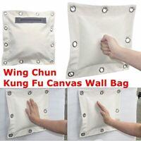 Wing Chun Punching Sand Bag Martial Arts Kung Fu Boxing Hang Wall Canvas Cover