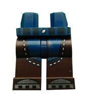 Lego Beine dunkelbraun + dunkelblau für Minifigur 970c120pb10 Hosen Basics Neu