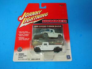 HUMMER - 1999 CIVILIAN 2 DOOR PICKUP - Johnny Lightning White - 1:64 NEW