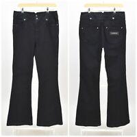Womens Karen Millen Flared Jeans Pants Dark Blue Denim Zip Size 14UK / 10US