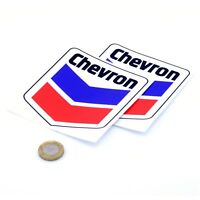 Chevron Stickers Classic Car Sticker Vinyl Decal 100mm x2 Gas Pump Patch Pocket
