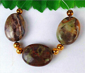 3Pcs 17x13x6mm Natural Brown Ayaka Agate Oval Height Holes Bead AP20419
