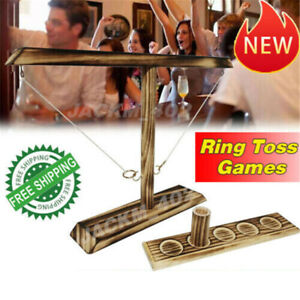 Hook and Ring Toss Battle Game Table Top Ring Toss For Adults Drinking Games US
