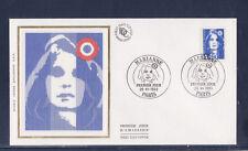 enveloppe 1er jour   Marianne  4f40  bleu     Paris   1993