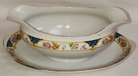 Noritake *THE MAGENTA* GRAVY BOAT W/ATTACHED LINER PLATE*