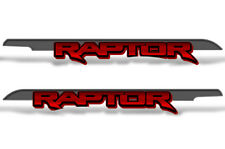 """62"""" X 7.25"""" Ford F150 RAPTOR Graphics Bed Decals Truck Stickers 2015-2018 RED"""