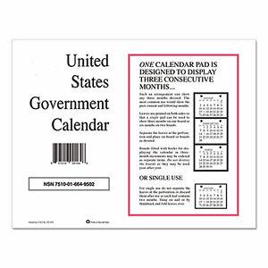 7510016649502 Monthly Wall Calendar, 9 x 11, 2021, 10/Pack 6649502 6649502  - 1